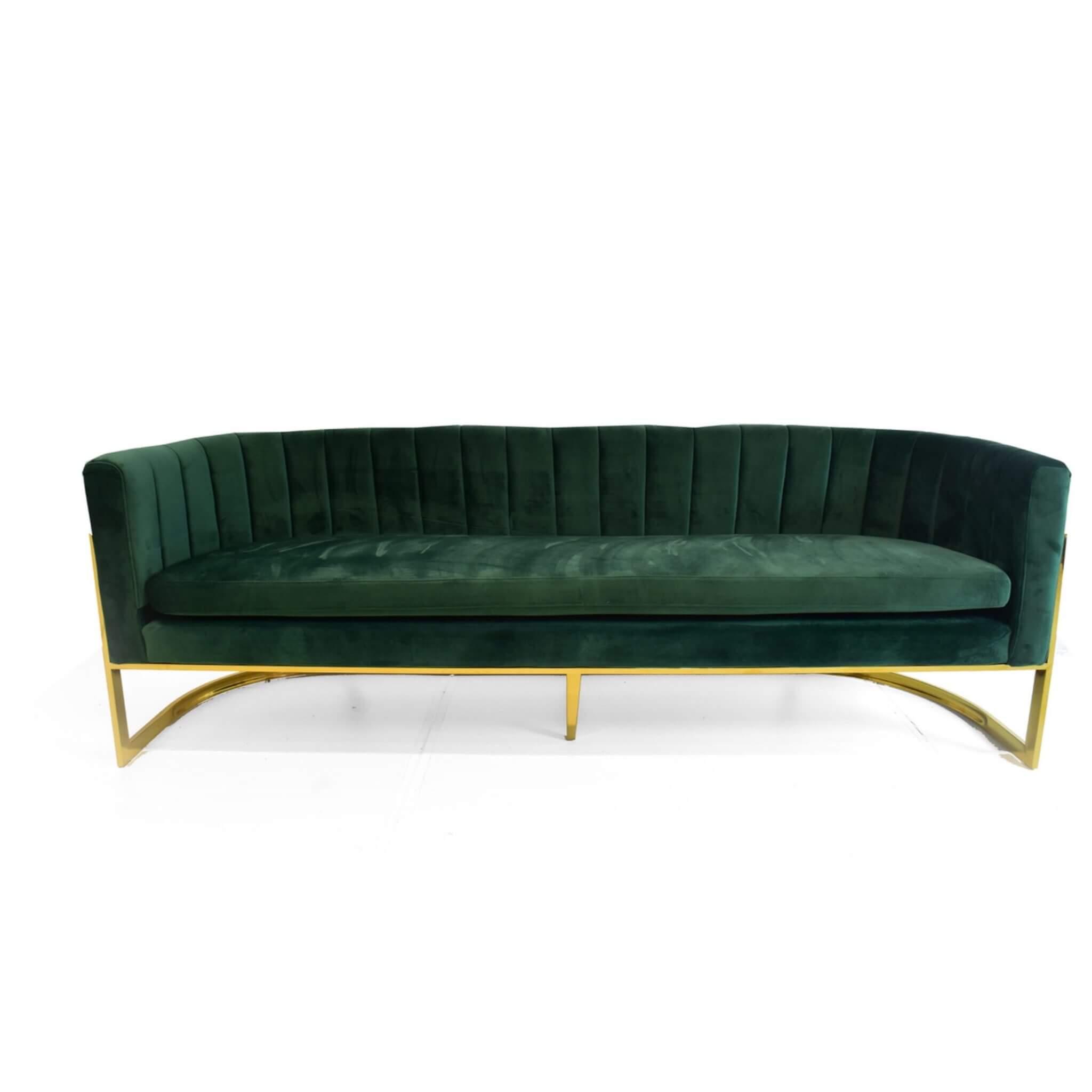 Emporium Green Sofa Glam Party Rentals